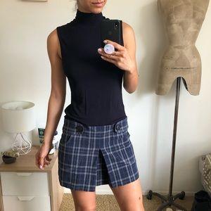 Bailey44 Plaid Skirt Jersey Mini Dress